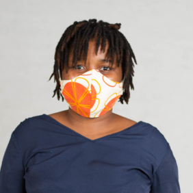 Orange Print Face Mask (Adult)