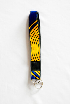 Blue And Yellow Key Wristlet