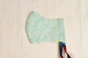 Turquoise Dots Kids' Face Mask