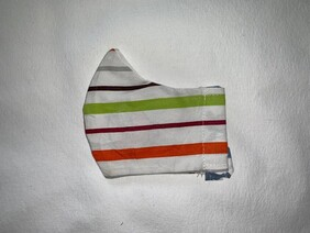 Stripey Kids' Face Mask